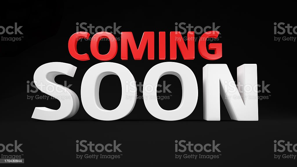 Red-white Coming Soon royalty-free stock photo