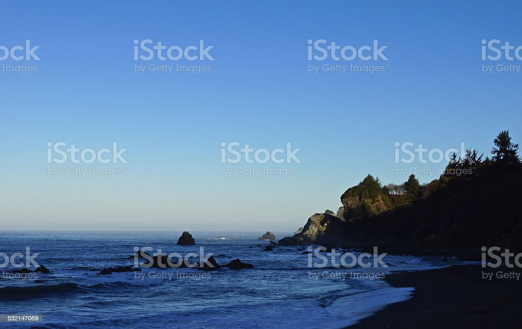 Redwood Coast Light stock photo