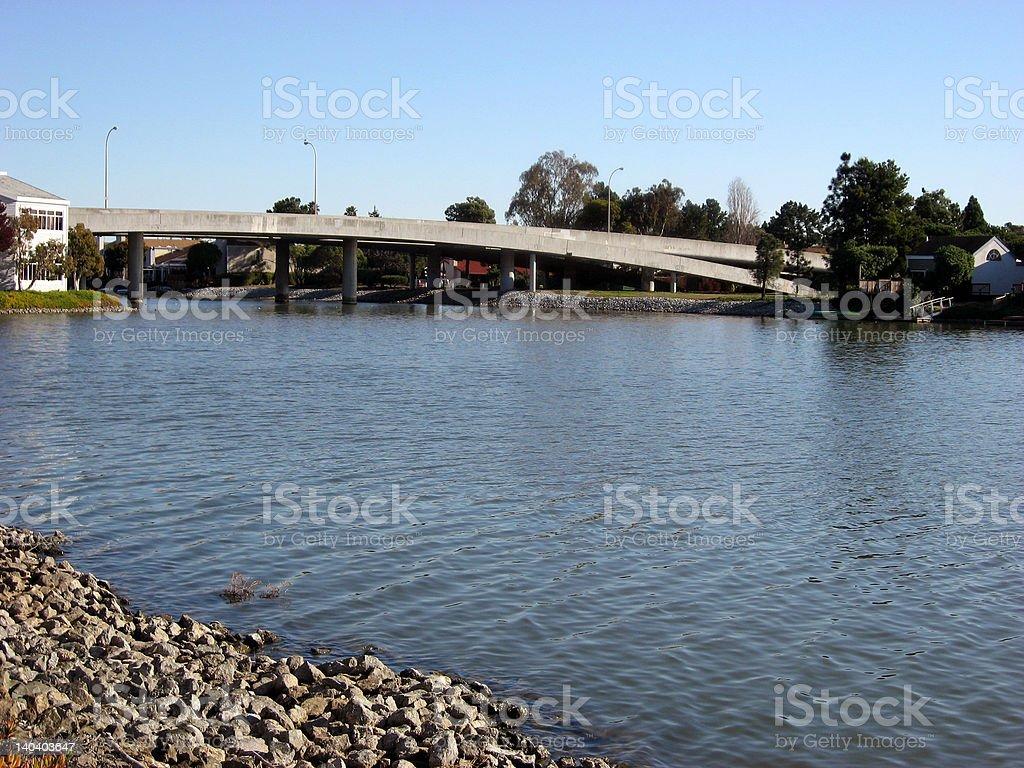 Redwood Shores Bridge stock photo