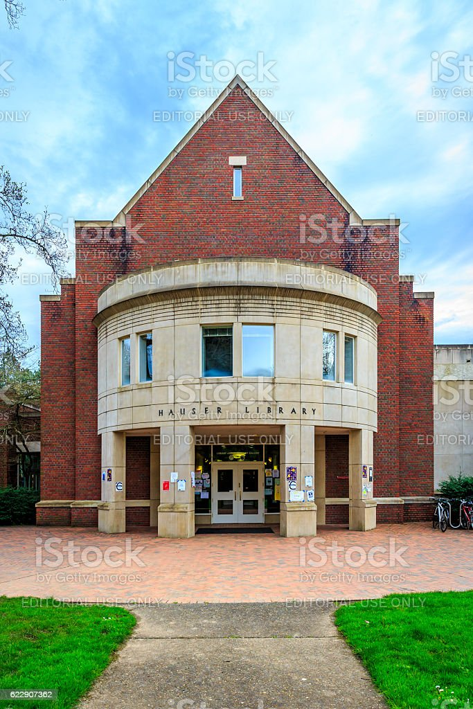 Reed College Library stock photo