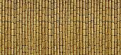 Reed mat wall