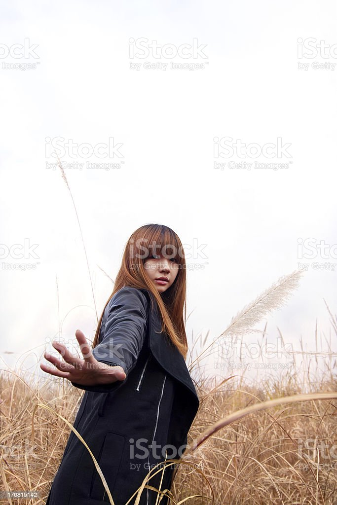 Reed woman stock photo