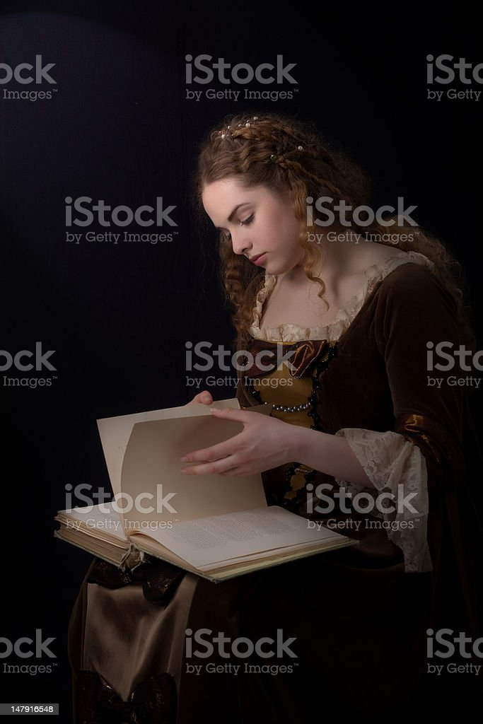 Reeding book - from the past stock photo