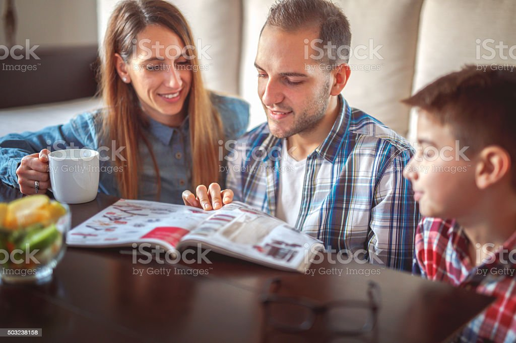 Reeding magazine stock photo