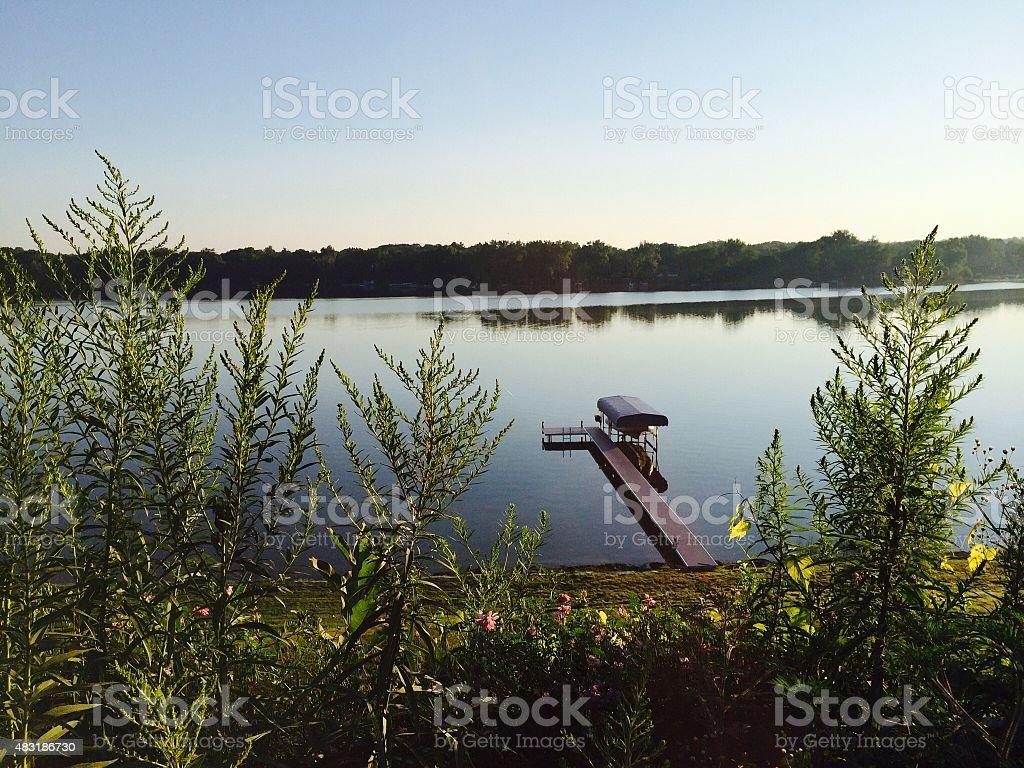 Reeds Lake, Michigan stock photo