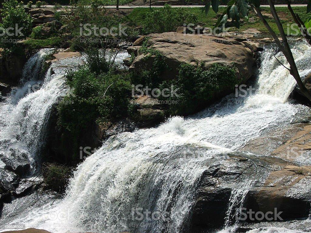 Reedy River Falls close-up stock photo