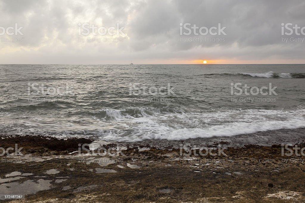 Reef Sunset, Kauai royalty-free stock photo