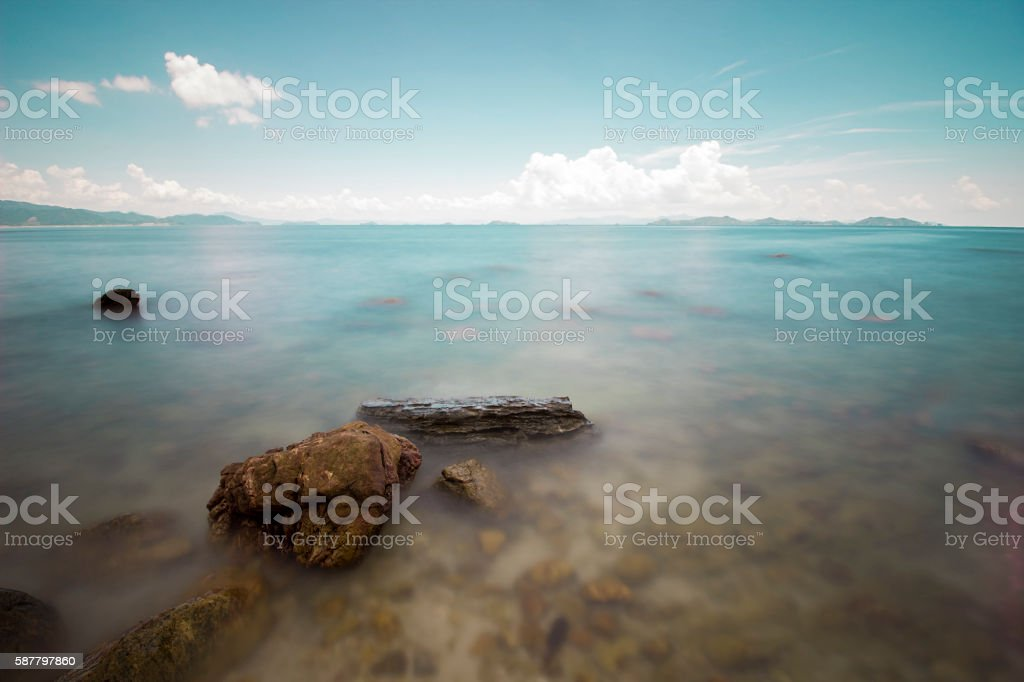 Reefs on the sea stock photo