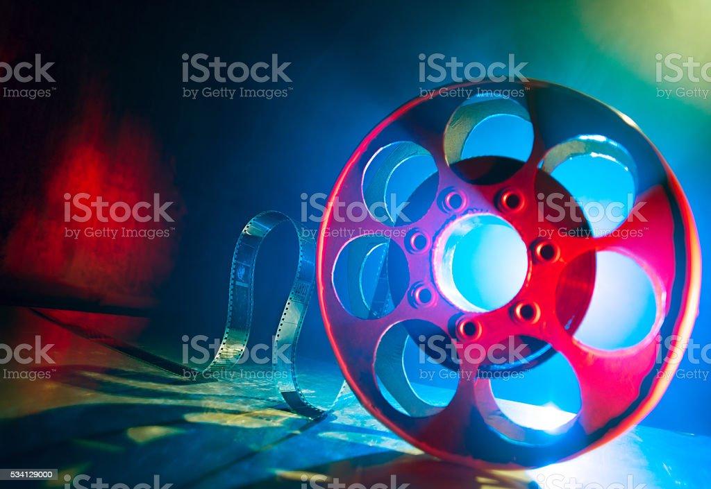 Reel of film stock photo