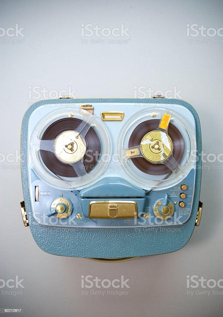 Reel recorder stock photo