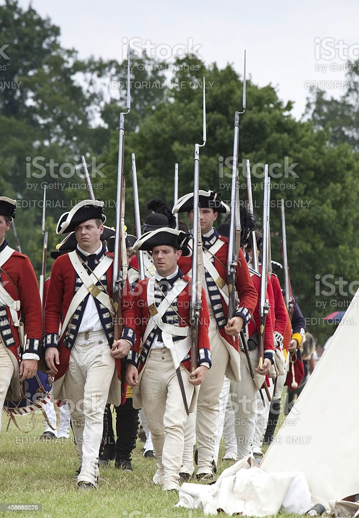 Reenactment of Redcoats Seizing Williamsburg royalty-free stock photo
