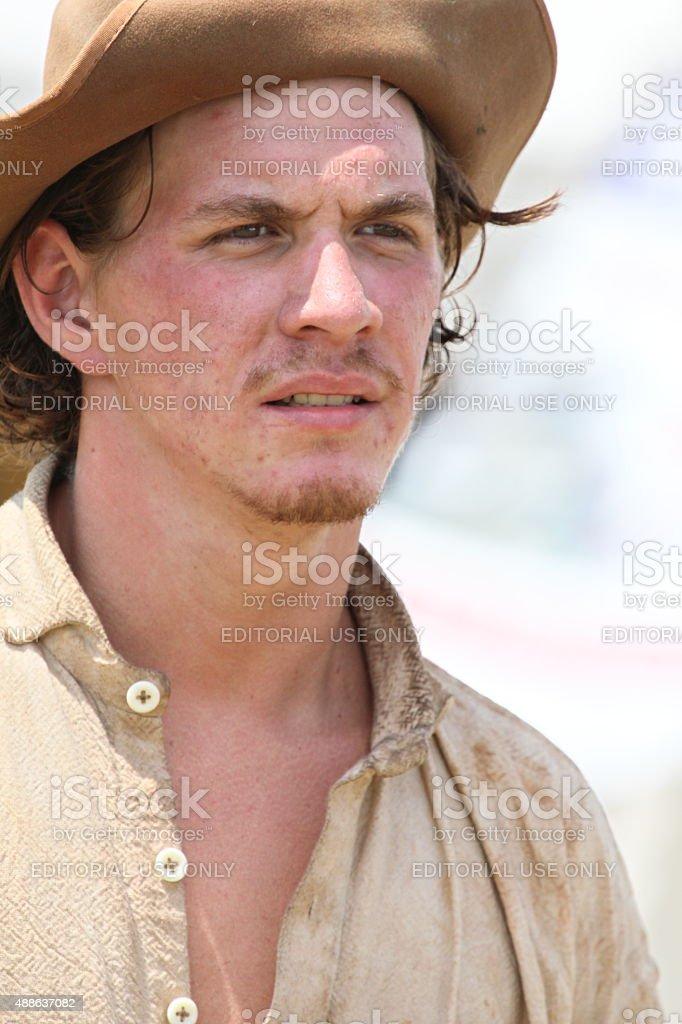 reenactor portrait stock photo