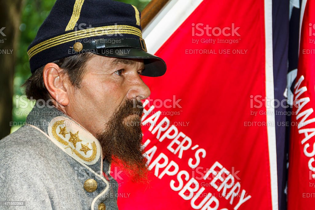 Reenactor Portraying a Confederate General stock photo