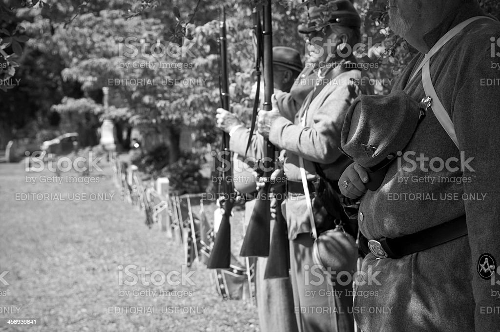 Reenactos at Confederate Memorial Day at Magnolia Cemetery in Charleston stock photo