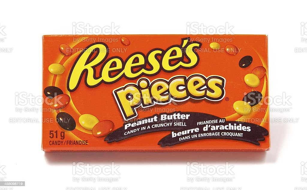 Reese's Pieces Peanut Butter Candy stock photo