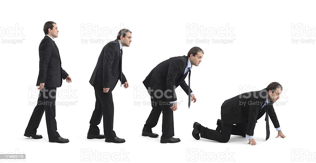 Re-Evolution Of Businessman royalty-free stock photo