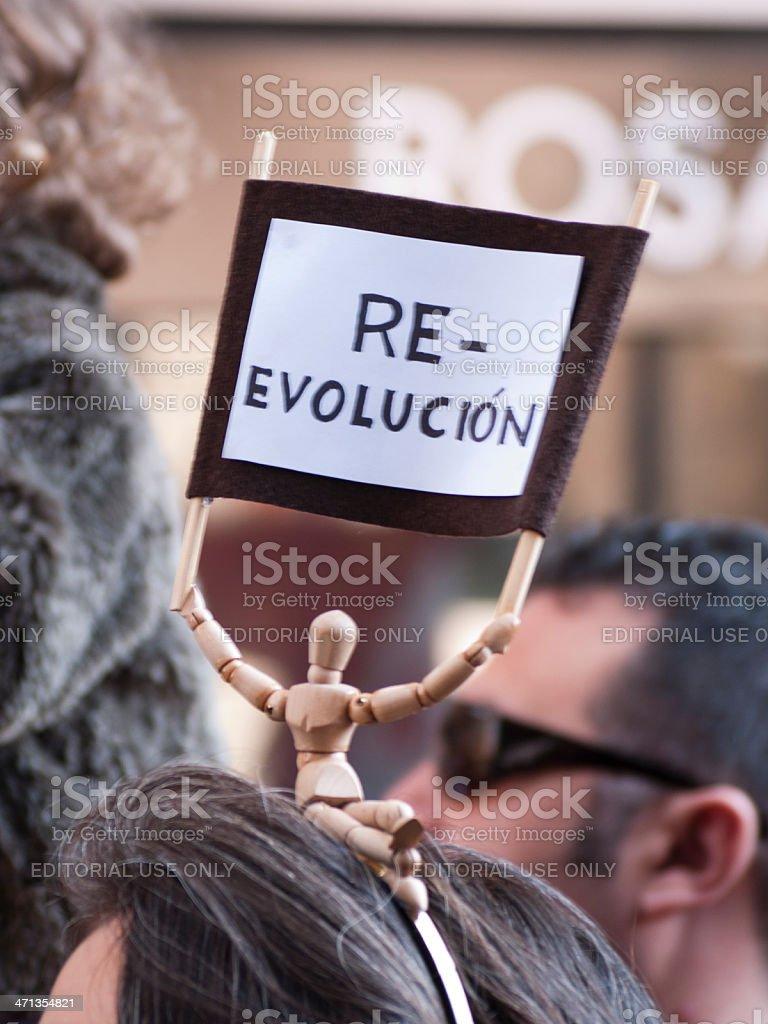 Re-evolución stock photo