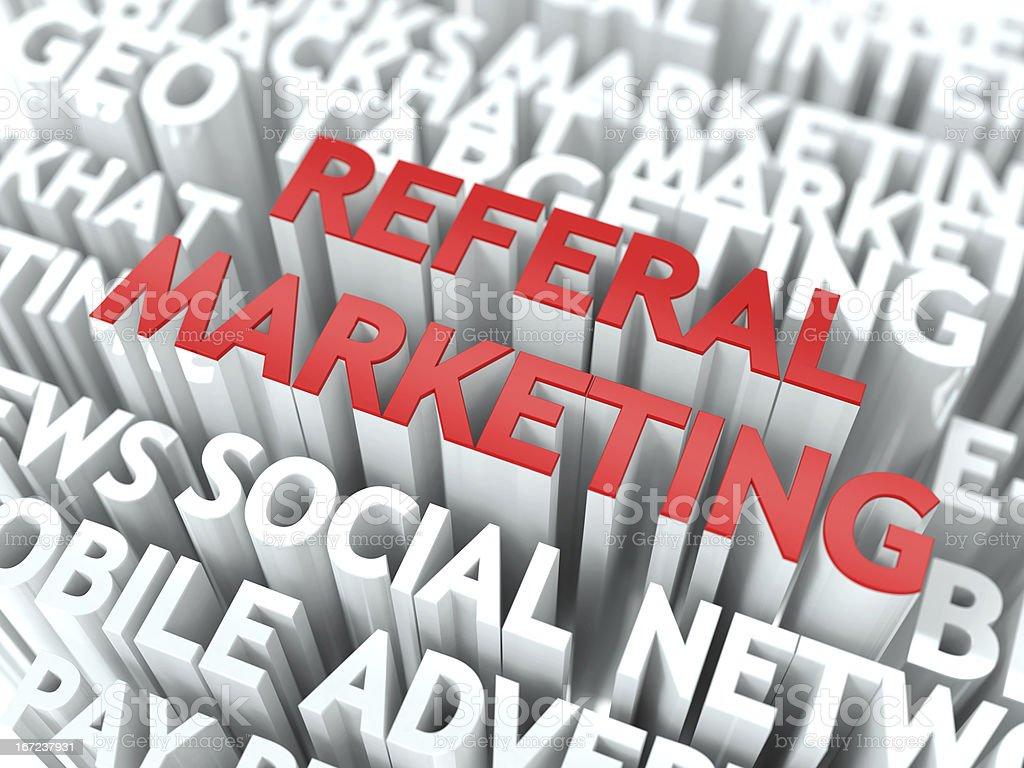 Referal Marketing Concept. stock photo