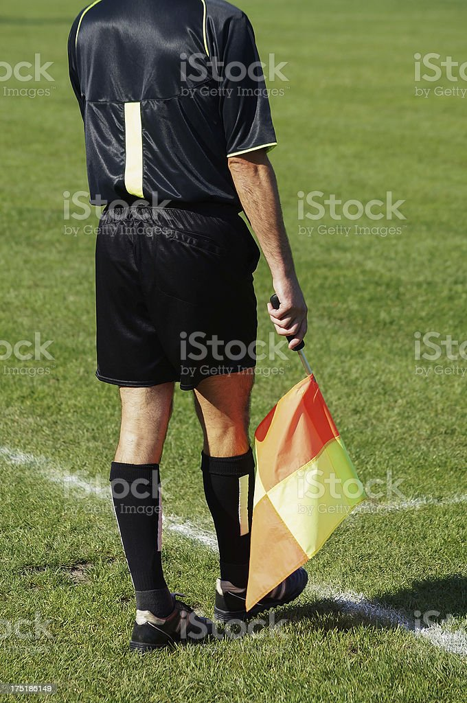 referee at a soccer match royalty-free stock photo