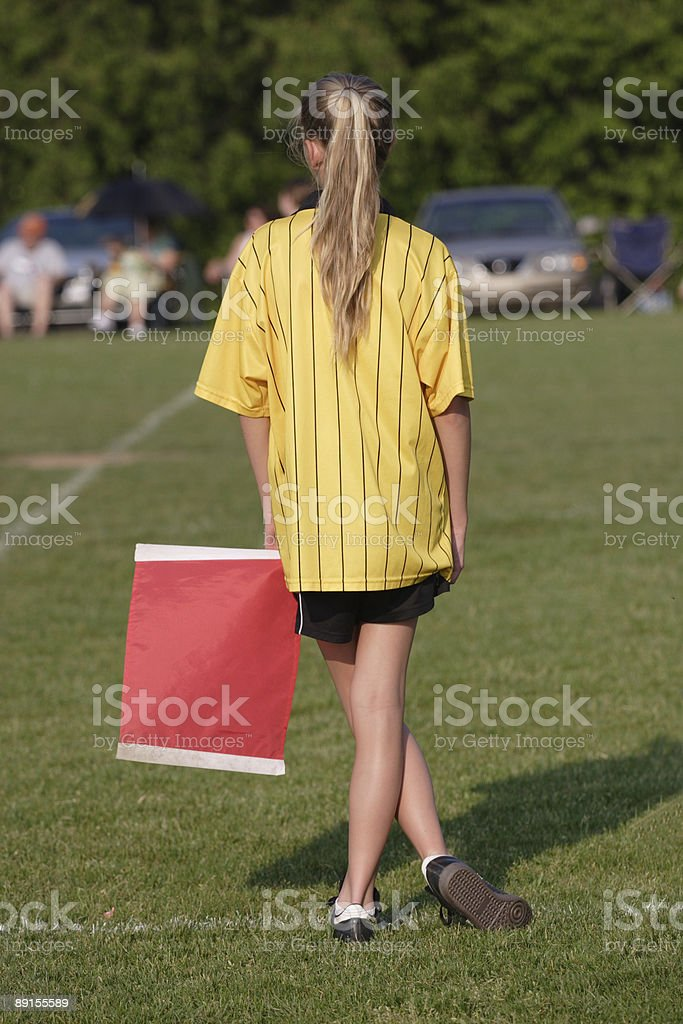 Referee at Soccer Game royalty-free stock photo