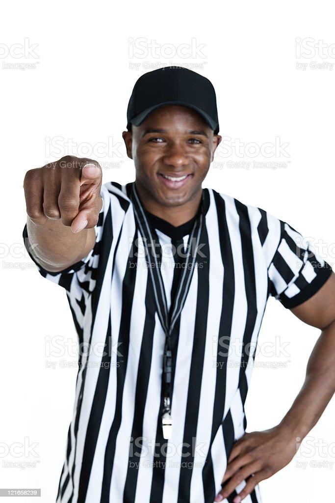 Referee Pointing stock photo