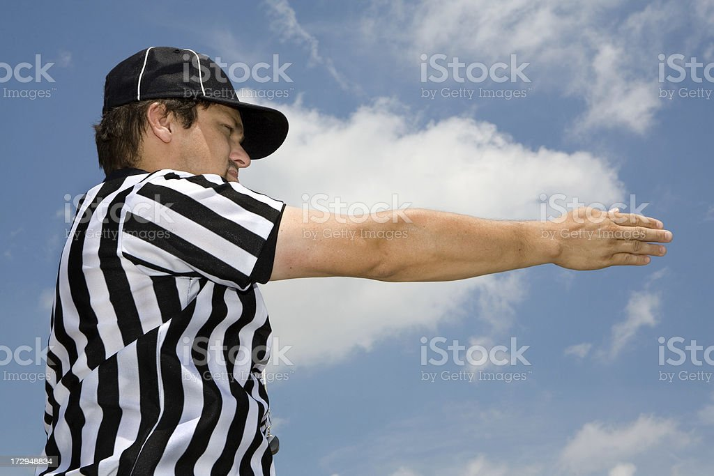 Referee Series: 1st Down royalty-free stock photo