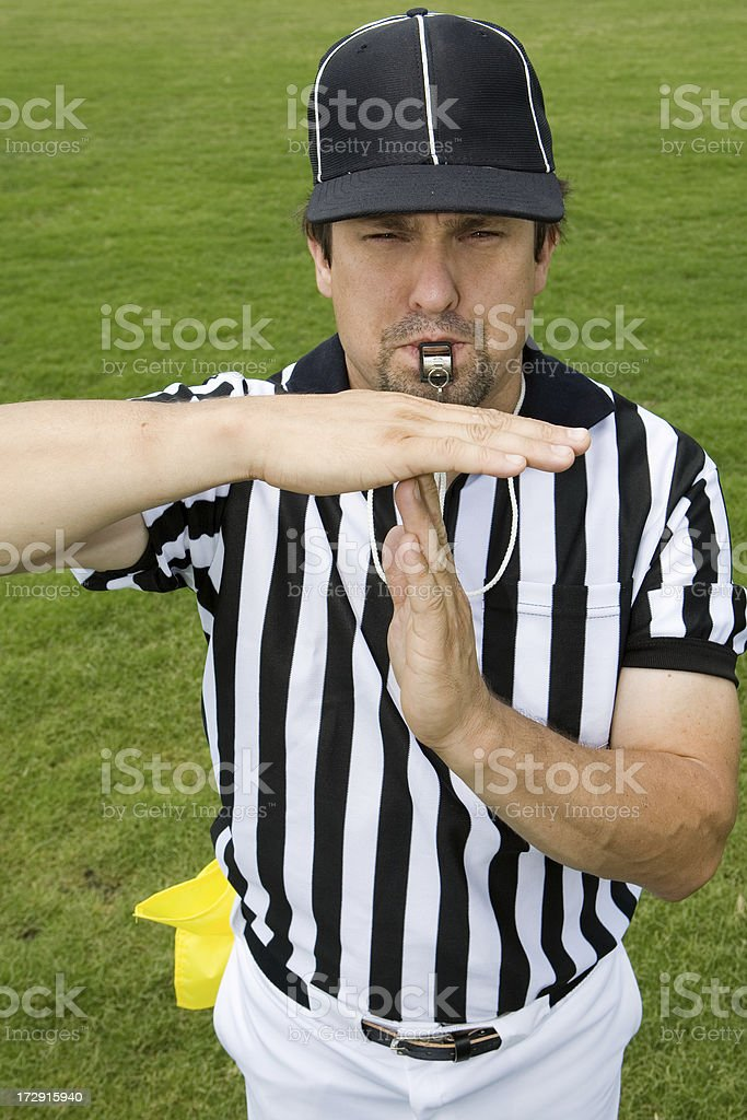 Referee Series:  Time Out stock photo