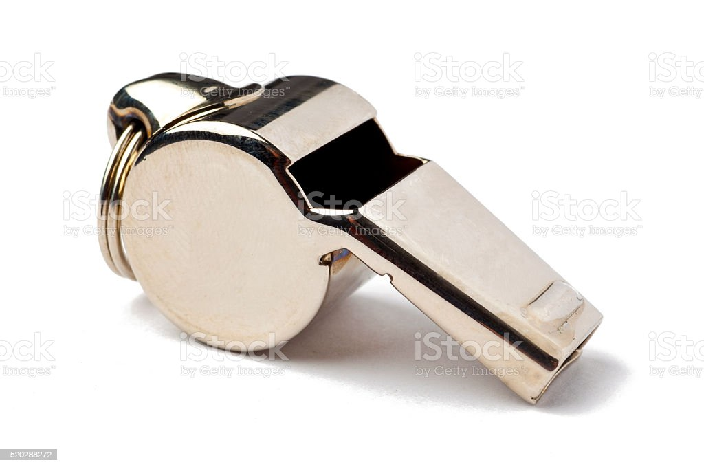 Referee Whistle stock photo