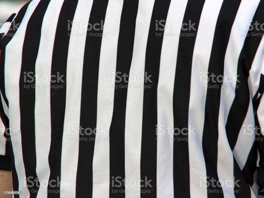Referee's Shirt stock photo