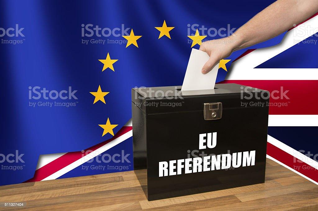UK EU Referendum Split stock photo