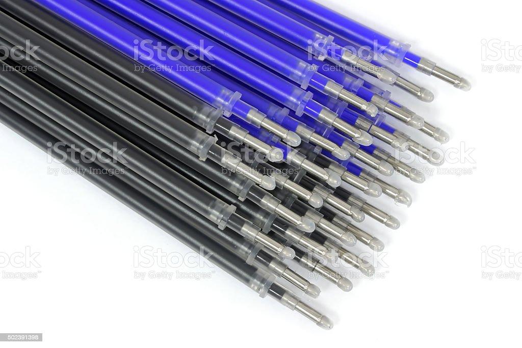 Refills for gel pen stock photo