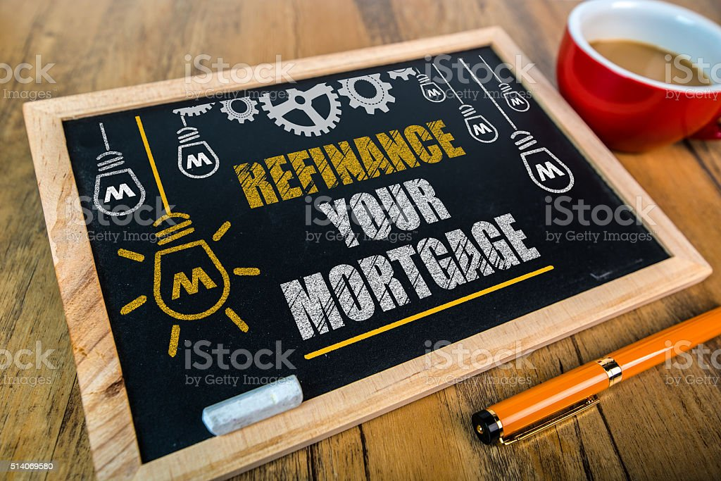 refinance your mortgage stock photo