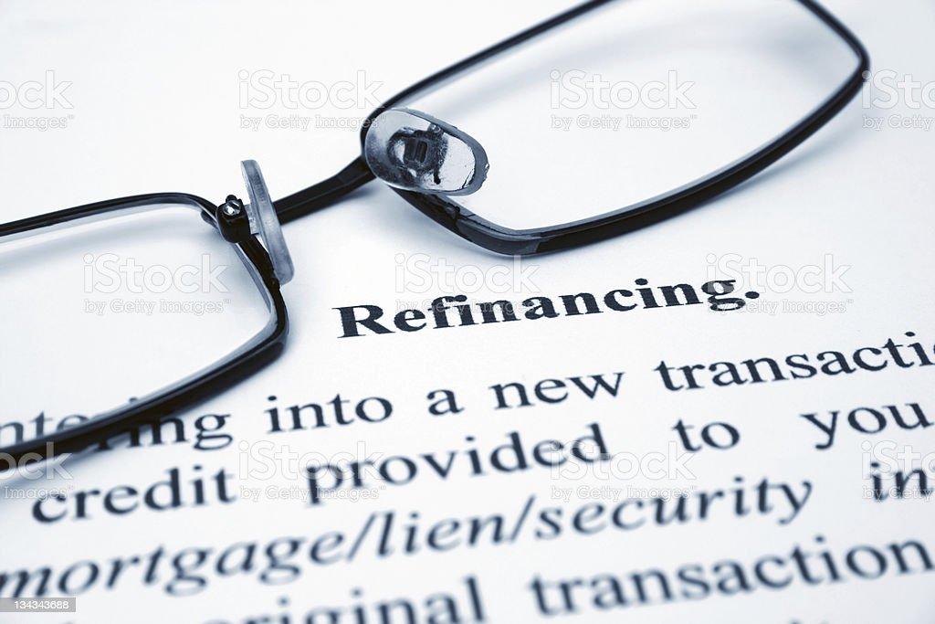 Refinancing royalty-free stock photo