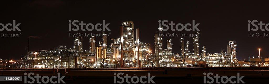 Refinary at night stock photo