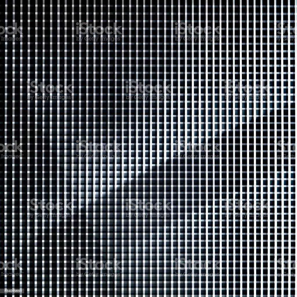 Refined black and white photo of metal grid structure stock photo