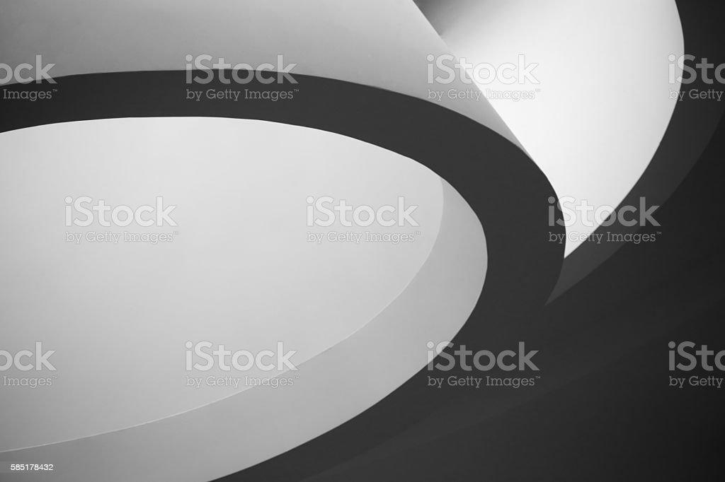 Refined close-up photo of elliptic / parabolic architecture stock photo