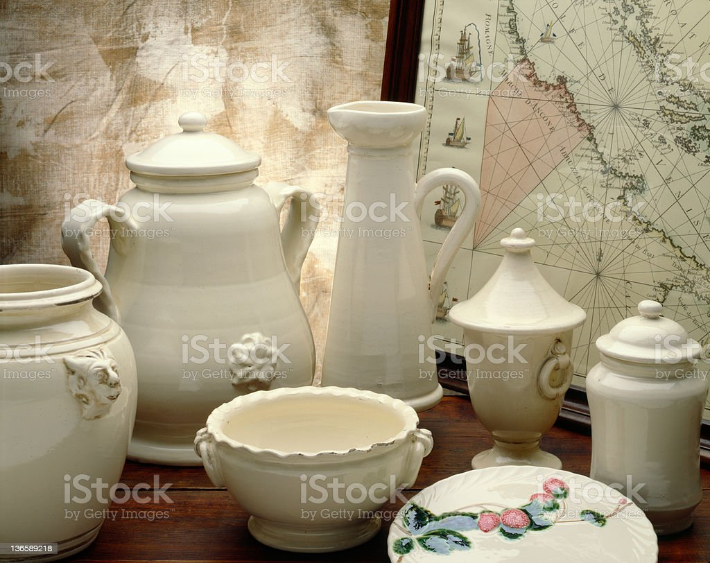 Refined Pottery stock photo