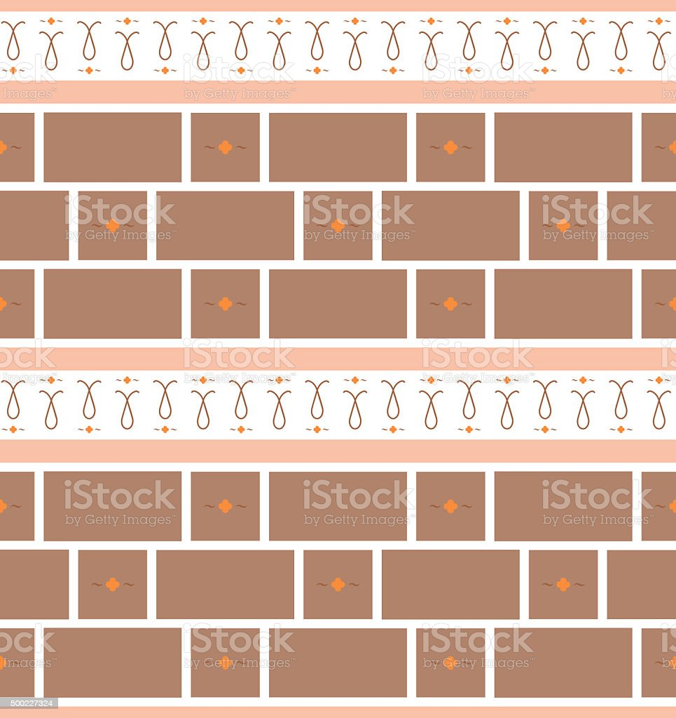 Refined seamless geometric wallpaper pattern stock photo
