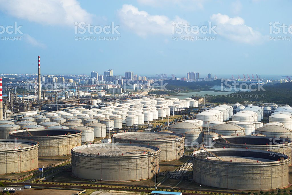 refineries and facilities stock photo