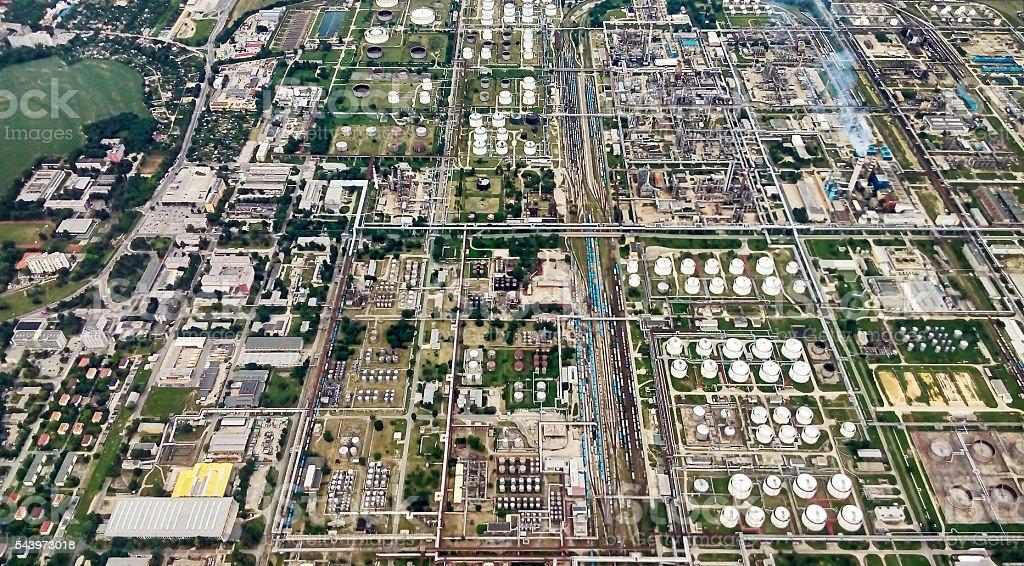 Refinery aerial stock photo