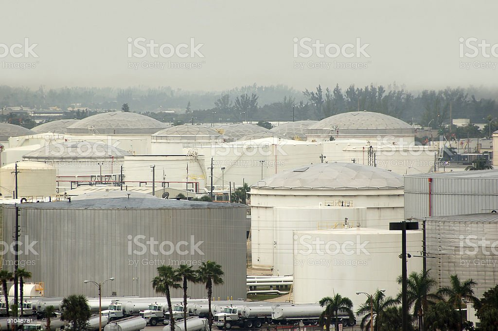 Refinery and fuel storage facilities in the USA royalty-free stock photo
