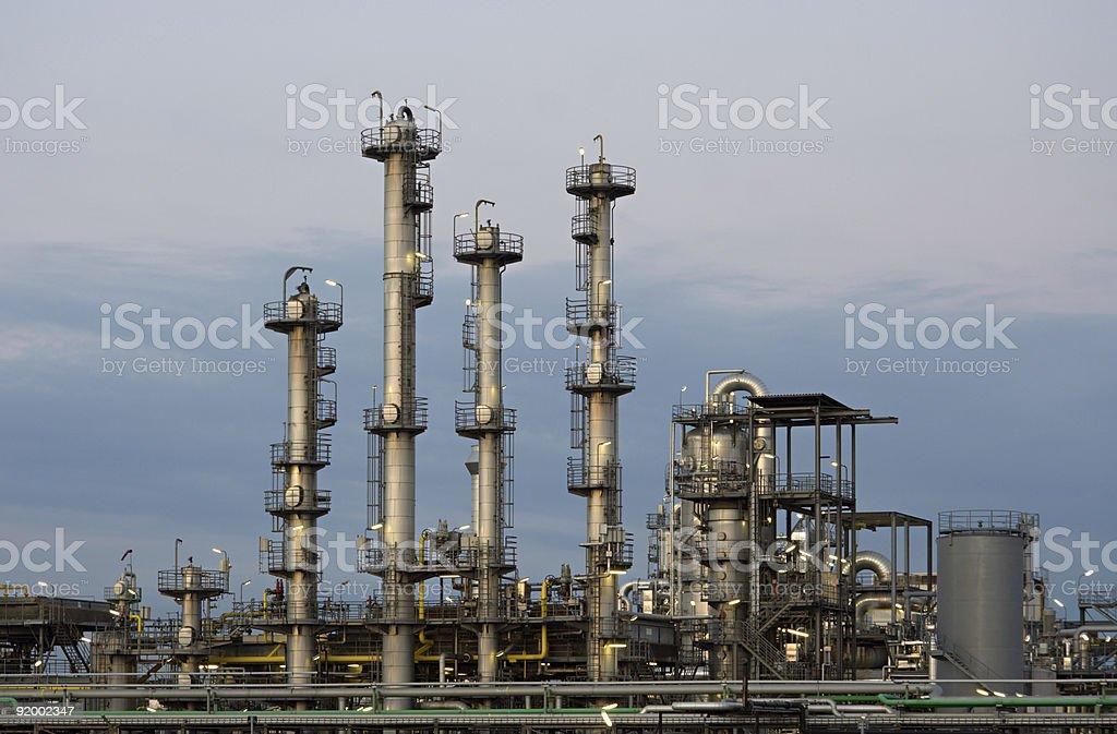 Refinery At Dusk royalty-free stock photo