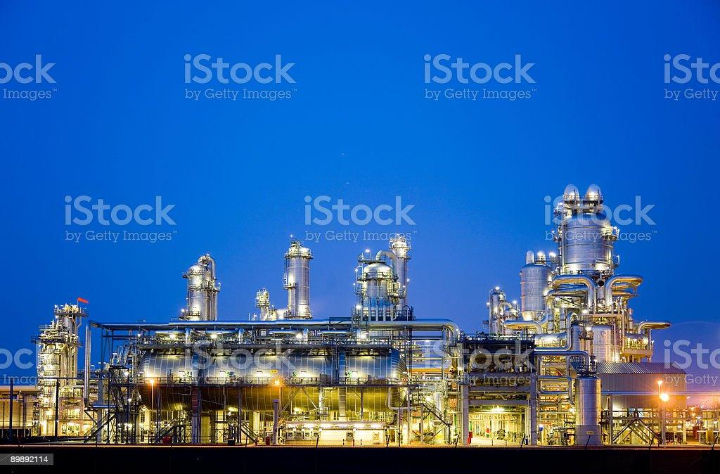 Refinery at night 5 stock photo