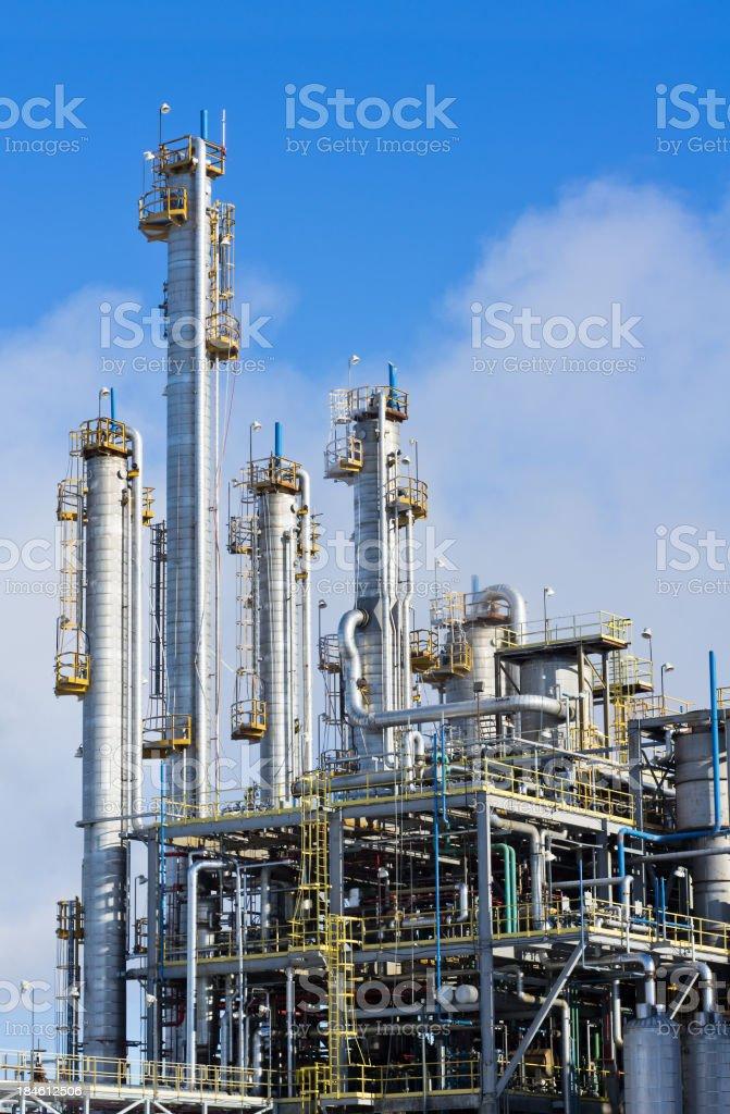 Refinery Background stock photo
