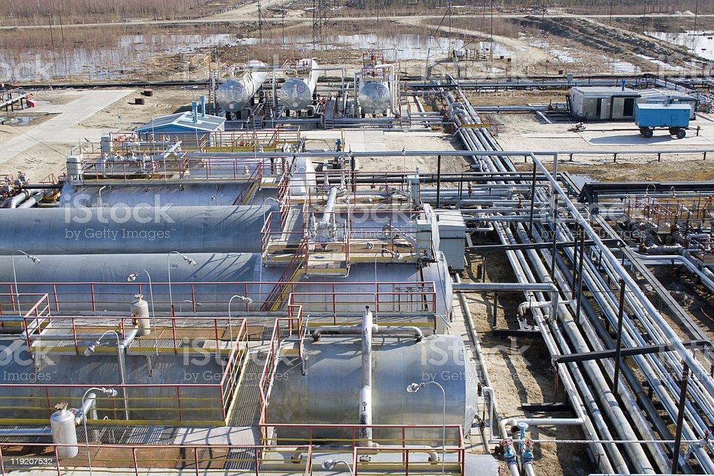 Refinery center royalty-free stock photo