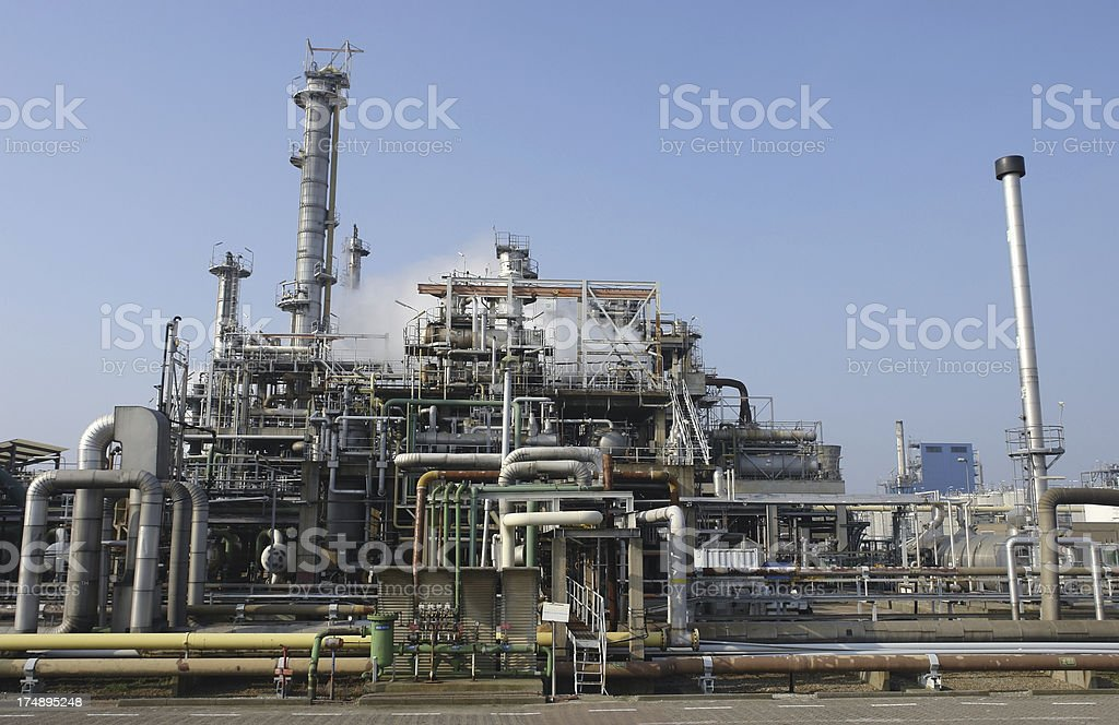 Refinery complex royalty-free stock photo