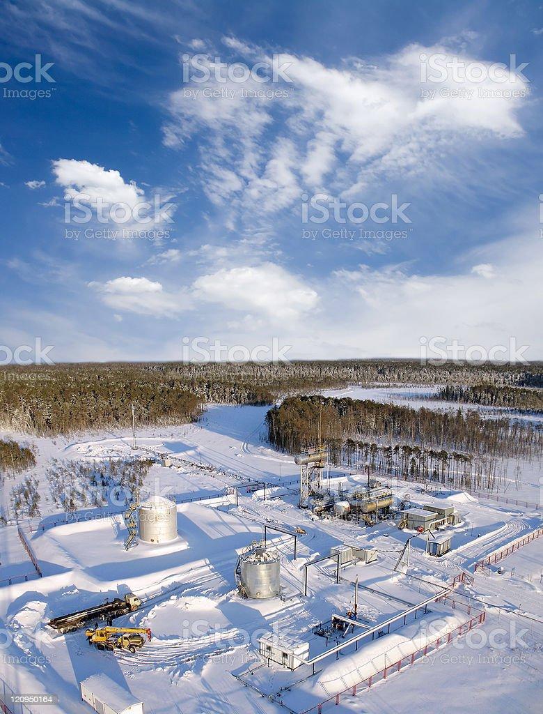Refinery construction royalty-free stock photo