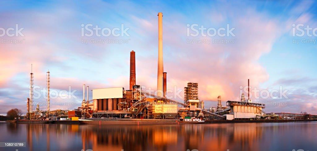 Refinery Daytime Long Exposure royalty-free stock photo