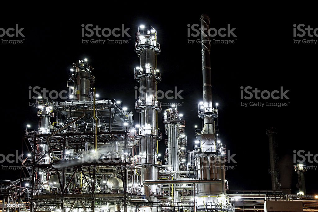 refinery factory for petrol production royalty-free stock photo