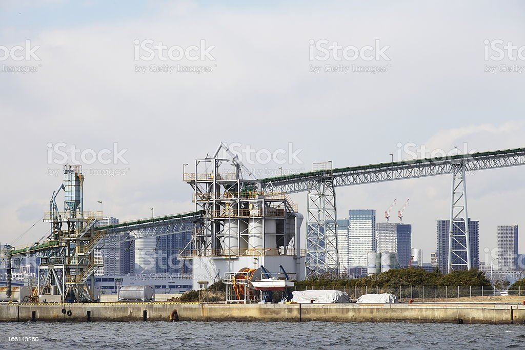 Refinery factory royalty-free stock photo